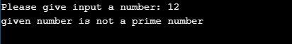 C Program to check a given number is Prime number or not