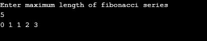 fibonacci series in c using recursion