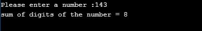C program to sum the digits of a number using recursion