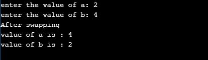Swap two numbers without using third variable in C