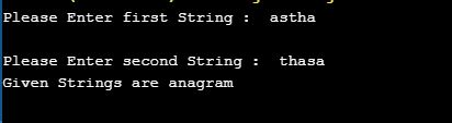 anagram program in c