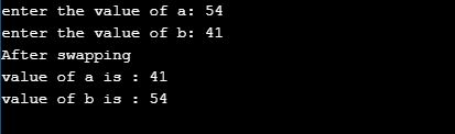 c program to swap two numbers using third variable