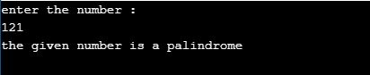 palindrome number in c using iterative method