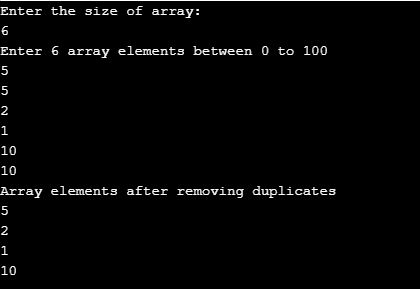 remove duplicates from array java