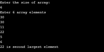 second largest number in an array java