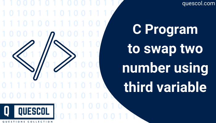 swap two number using third variable in c