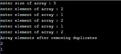 remove duplicate elements from array python
